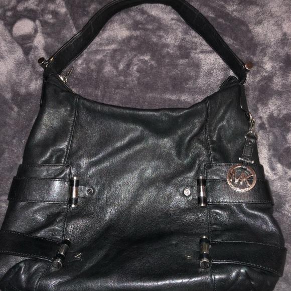 MICHAEL Michael Kors Handbags - Michael Kors black leather shoulder bag